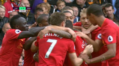TV: Lallana ordnar ledningen för Liverpool