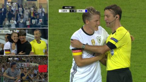 TV: Mäktiga hyllningen av Schweinsteiger