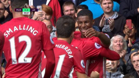 TV: Manchester Uniteds galna förta halvlek