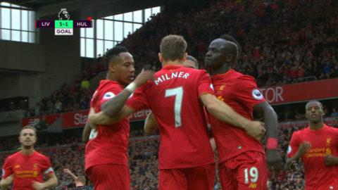 TV: Milner tvåmålsskytt när Liverpool gör 5-1