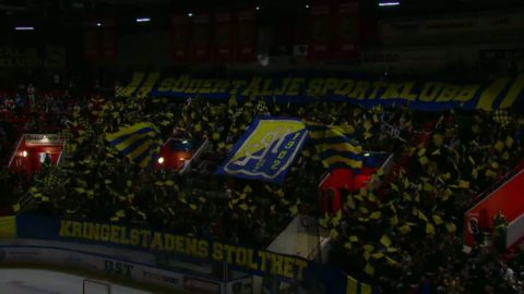 Vacker inramning av SSK-fansen i mötet med AIK