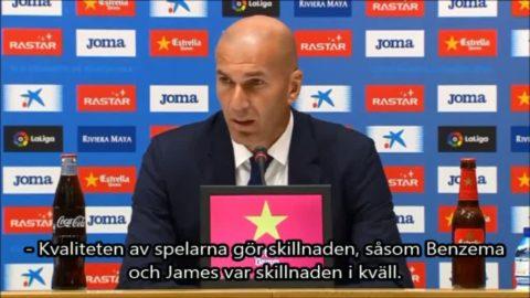"""Zidane: """"Benzema och James gjorde skillnaden"""""""