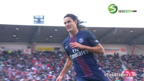 Cavani avgjorde med vackert lobbmål - PSG fortsätter jakten på Nice
