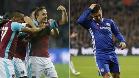 Chelsea ute ur ligacupen - föll tungt inför rekordpublik