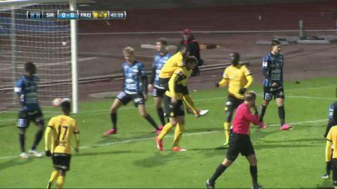 Gustafsson trycker in 1-0 för Frej borta mot Sirius