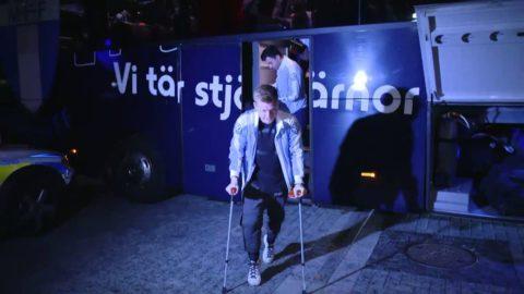 Här anländer MFF:s guldhjältar till Swedbank Stadion