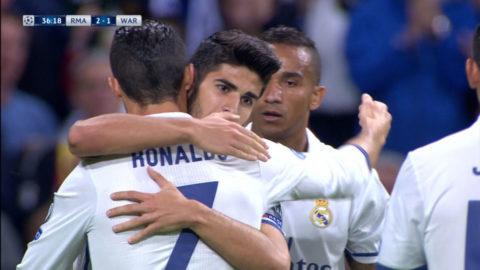 MÅL: 20-åringen prickar in 3-1 till Real Madrid - assist från Ronaldo