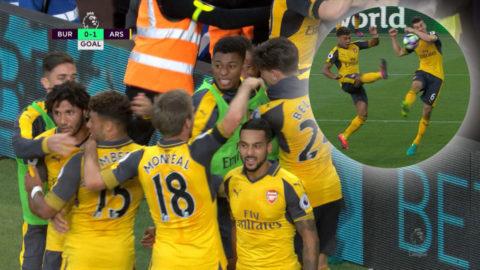 Mål: Arsenal avgör med kontroversiellt handsmål (0-1)
