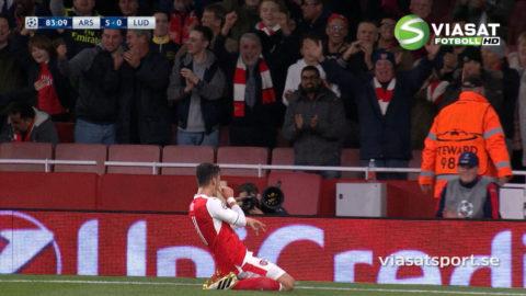 MÅL: Arsenal leker med Ludogorets - Özil tvåmålsskytt (5-0)