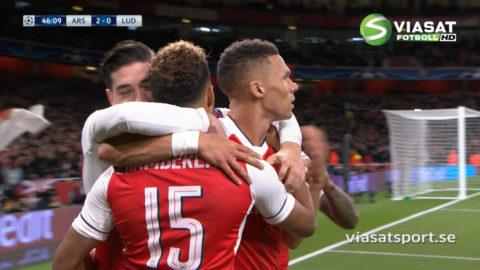 MÅL: Arsenal på väg mot säker seger - Chamberlain utökar (3-0)