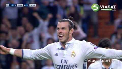 MÅL: Bale viker in och bombar in ledningsmålet (1-0)