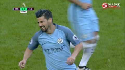 Mål: City kvitterar - Nolito nätar (1-1)