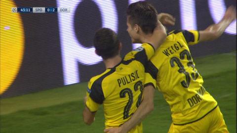 MÅL: Dortmund utökar på - Weigl prickar vackert in bollen för gästerna