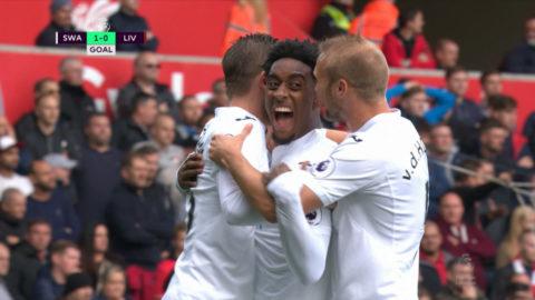 Mål: Fer öppnar målskyttet mot Liverpool (1-0)