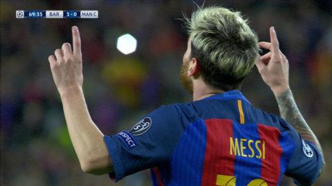 MÅL: Hattrick för Messi - ännu en tabbe av City