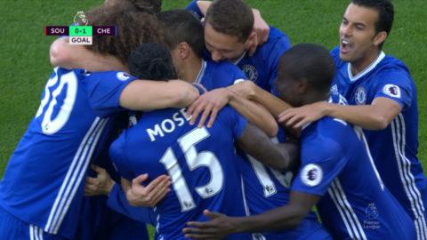 Mål: Hazard spräcker nollan för Chelsea (0-1)