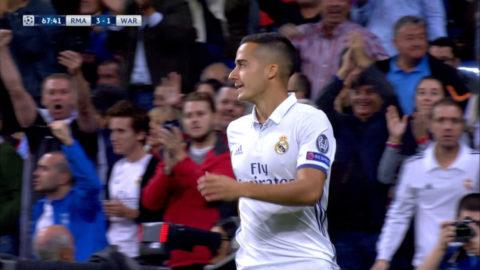 MÅL: Inhoppande Vázquez drar till på volley - Real utökar (4-1)