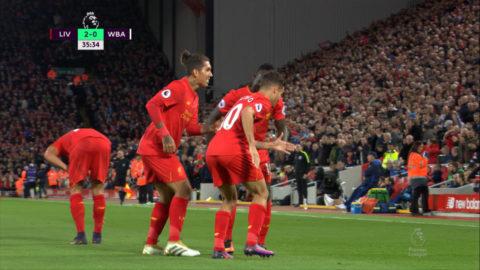 Mål: Liverpool utökar mot WBA - Coutinho nätar (2-0)