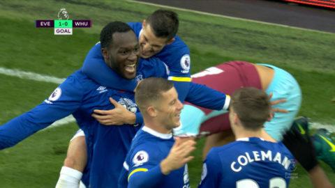 Mål: Lukaku öppnar målskyttet mot West Ham (1-0)