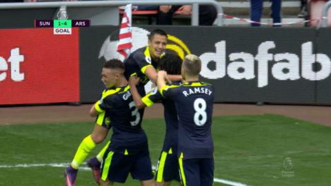 Mål: Målfesten fortsätter på Stadium of Light - Sanchez tvåmålsskytt (1-4)