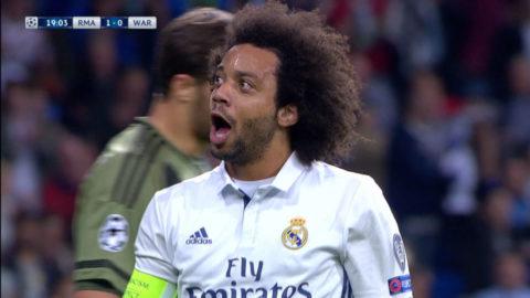 MÅL: Marcelo utökar på Reals ledning - via försvarare (2-0)