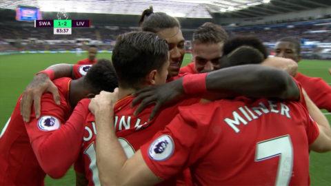 Mål: Milner fullbordar vändningen för Liverpool (1-2)