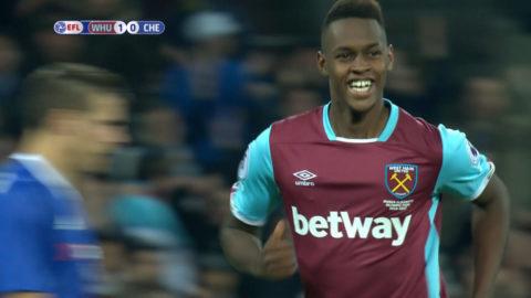 Mål: West Ham utökar - Fernandes med välplacerat skott (2-0)