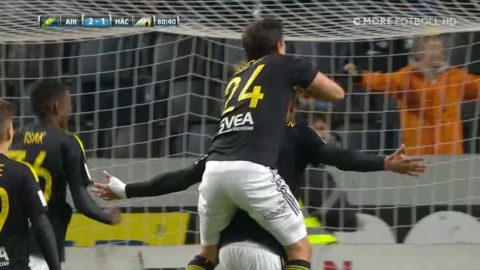 Markkanens dunderskott ger 2-1 för AIK