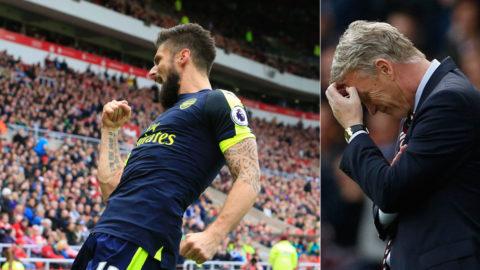 Nattsvart, Moyes - Sunderland manglade av Arsenal