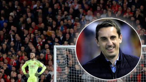 """Neville försvarar sig efter """"skräckbilden"""" från Anfield: """"Inte en pik mot Liverpool"""""""