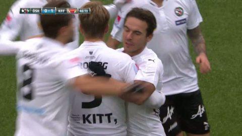 Nordin Gerzic dundrar in kvitteringen till 1-1 mot Kalmar