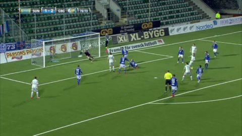 Omarsson prickar in 3-1 för Blåvitt