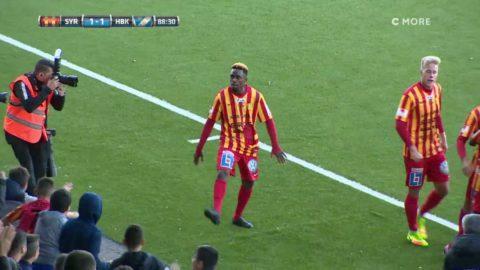 Rashidi gör sitt första mål i superettan - vägrar sluta dansa