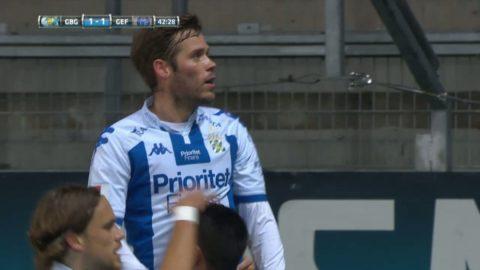 Salomonsson kvitterar för IFK Göteborg strax innan halvtidspausen