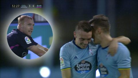 TV: Barças mardrömsminut – släpper in två Vigo-mål på en minut