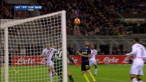 TV: Brozović jättemiss - en meter från mål
