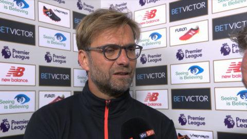 """TV: Klopp: """"Jag är inte nöjd med matchen"""""""