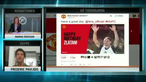 """United-supportrarnas pik till Zlatan: """"Borde inte få tårta"""""""