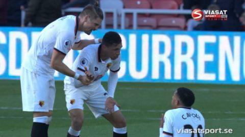 Watford duon i gräl - minuterna efter segern