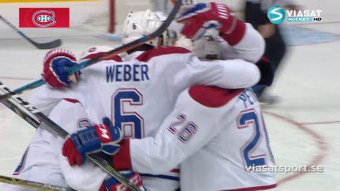 Webers bomb missar Hamonics huvud med centimeter – och vinner matchen åt Montreal