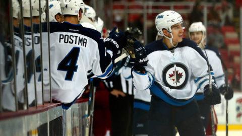 Första NHL-målet i karriären - då reste sig Winnipeg