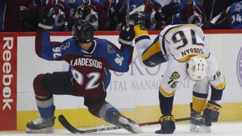 Landeskog sänkte Arvidsson – och fick slåss