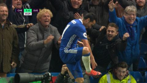 Mål: Everton överkörda - Pedro placerar in femman (5-0)