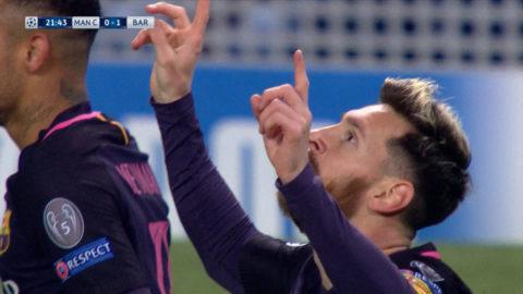 Mål: Messi öppnar målskyttet på Etihad (0-1)
