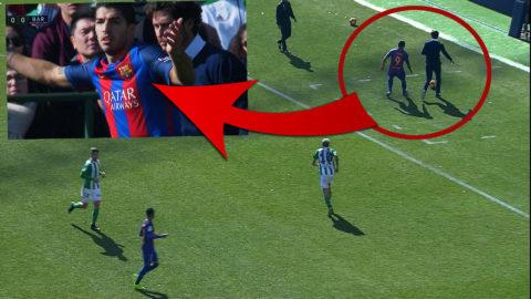 Betis-tränaren provocerar Suarez - spelar oskyldig
