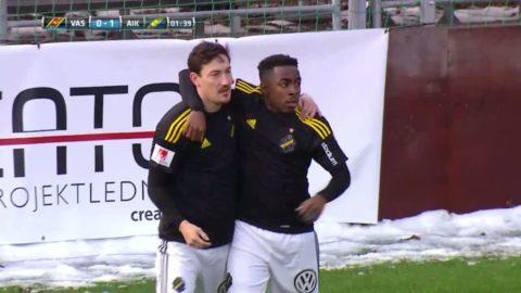 Här gör Ishizaki säsongens första AIK-mål - behövde 90 sekunder