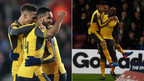 Hattrick av Walcott när Arsenal förnedrade Southampton