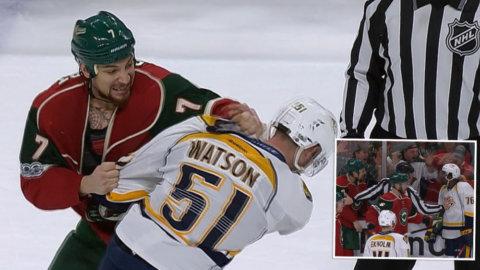 NHL-busen vägrar ge sig - retar upp Nashville-spelarna