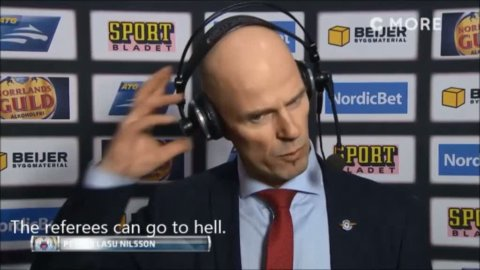 """Luleå-coach Nilsson gut furious over a disallowed goal: """"The referees can go to hell"""""""