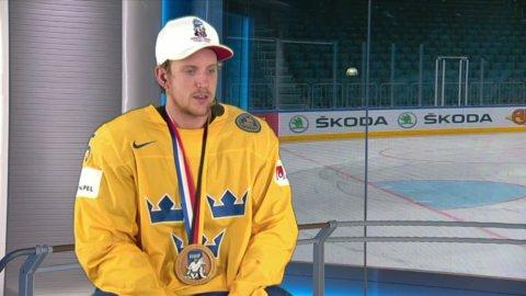 Jonas Brodin hyllar lagkamraterna efter guldet